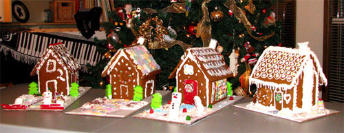 Gingerbread houses 2008
